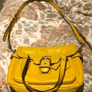 Mustard color Coach purse, never used